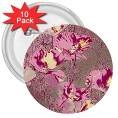 Amazing Glowing Flowers 2b 3  Buttons (10 Pack)