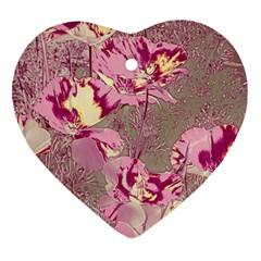 Amazing Glowing Flowers 2b Heart Ornament (two Sides)