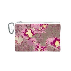 Amazing Glowing Flowers 2b Canvas Cosmetic Bag (s)