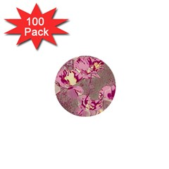 Amazing Glowing Flowers 2b 1  Mini Buttons (100 Pack)
