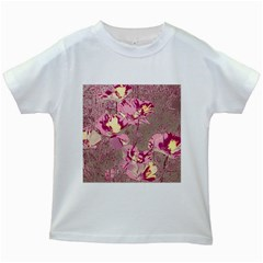 Amazing Glowing Flowers 2b Kids White T Shirts