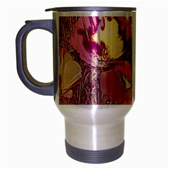 Amazing Glowing Flowers 2b Travel Mug (silver Gray)