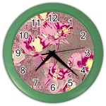 Amazing Glowing Flowers 2b Color Wall Clocks Front