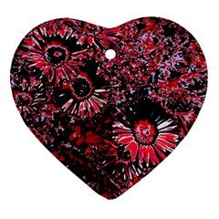Amazing Glowing Flowers C Ornament (heart)