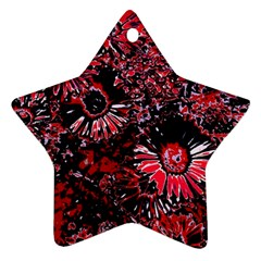 Amazing Glowing Flowers C Ornament (star)