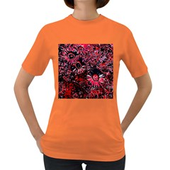 Amazing Glowing Flowers C Women s Dark T Shirt