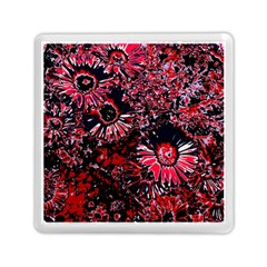 Amazing Glowing Flowers C Memory Card Reader (square)