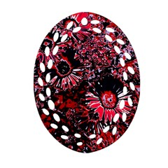 Amazing Glowing Flowers C Ornament (oval Filigree)