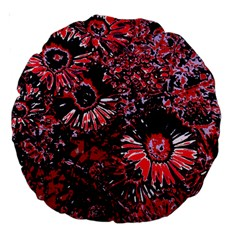 Amazing Glowing Flowers C Large 18  Premium Round Cushions