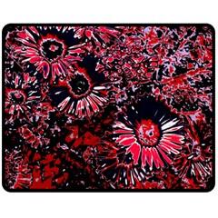 Amazing Glowing Flowers C Double Sided Fleece Blanket (medium)