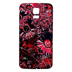 Amazing Glowing Flowers C Samsung Galaxy S5 Back Case (white)