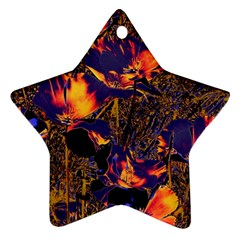 Amazing Glowing Flowers 2a Star Ornament (two Sides)