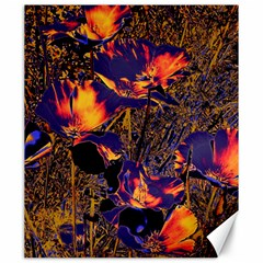 Amazing Glowing Flowers 2a Canvas 20  X 24