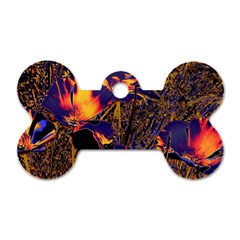 Amazing Glowing Flowers 2a Dog Tag Bone (two Sides)