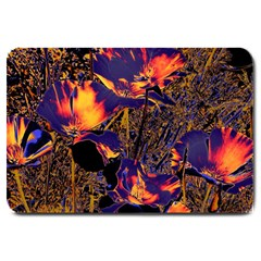 Amazing Glowing Flowers 2a Large Doormat