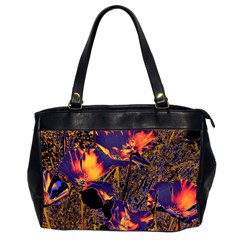 Amazing Glowing Flowers 2a Office Handbags (2 Sides)