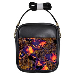 Amazing Glowing Flowers 2a Girls Sling Bags