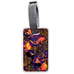 Amazing Glowing Flowers 2a Luggage Tags (two Sides)