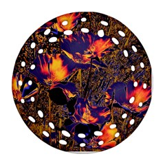 Amazing Glowing Flowers 2a Ornament (round Filigree)