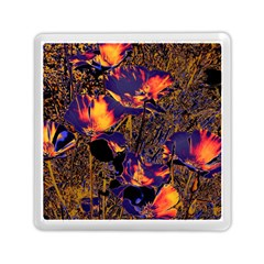 Amazing Glowing Flowers 2a Memory Card Reader (square)