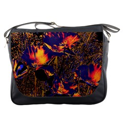 Amazing Glowing Flowers 2a Messenger Bags