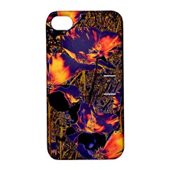 Amazing Glowing Flowers 2a Apple Iphone 4/4s Hardshell Case With Stand