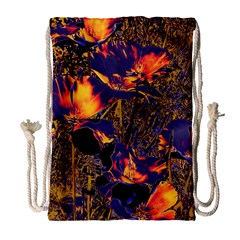 Amazing Glowing Flowers 2a Drawstring Bag (large)