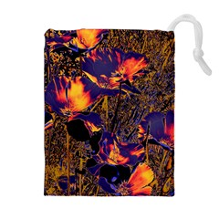 Amazing Glowing Flowers 2a Drawstring Pouches (extra Large)