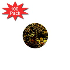 Amazing Neon Flowers B 1  Mini Buttons (100 Pack)