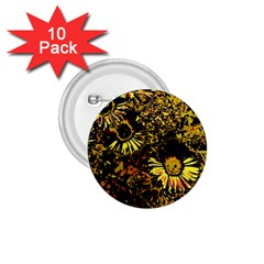 Amazing Neon Flowers B 1 75  Buttons (10 Pack)