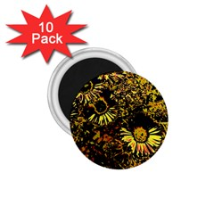 Amazing Neon Flowers B 1 75  Magnets (10 Pack)