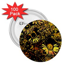Amazing Neon Flowers B 2 25  Buttons (100 Pack)