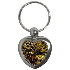 Amazing Neon Flowers B Key Chains (heart)