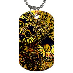 Amazing Neon Flowers B Dog Tag (one Side)