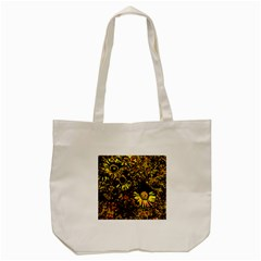 Amazing Neon Flowers B Tote Bag (cream)