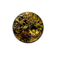 Amazing Neon Flowers B Hat Clip Ball Marker (4 Pack)