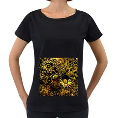 Amazing Neon Flowers B Women s Loose Fit T Shirt (black)
