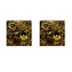Amazing Neon Flowers B Cufflinks (square)