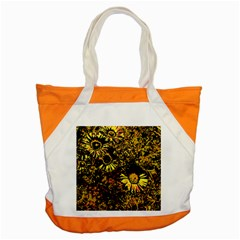 Amazing Neon Flowers B Accent Tote Bag