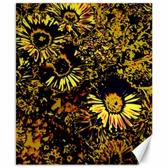 Amazing Neon Flowers B Canvas 8  X 10