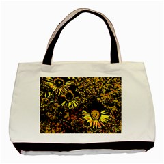 Amazing Neon Flowers B Basic Tote Bag (two Sides)