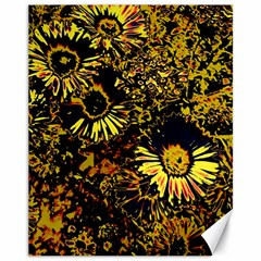 Amazing Neon Flowers B Canvas 11  X 14