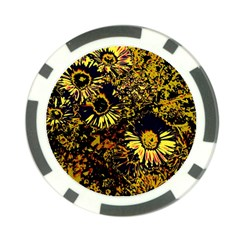 Amazing Neon Flowers B Poker Chip Card Guard