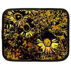 Amazing Neon Flowers B Netbook Case (large)