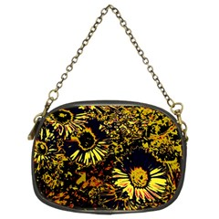 Amazing Neon Flowers B Chain Purses (two Sides)