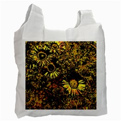 Amazing Neon Flowers B Recycle Bag (one Side)