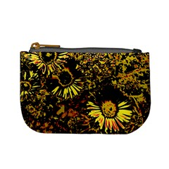 Amazing Neon Flowers B Mini Coin Purses