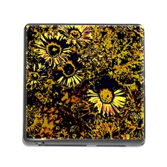 Amazing Neon Flowers B Memory Card Reader (square)