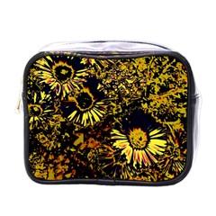 Amazing Neon Flowers B Mini Toiletries Bags