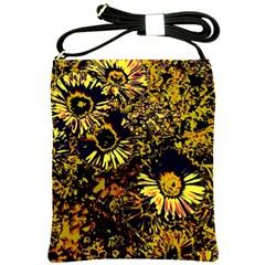 Amazing Neon Flowers B Shoulder Sling Bags